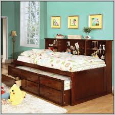 Bookcase Bed Queen Great Queen Captains Bed With Bookcase Headboard 86 About Remodel