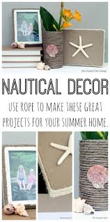 nautical and decor nautical decor using rope the country chic cottage