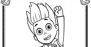ryder paw patrol colouring pages paw patrol ryder coloring