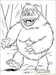 luxury abominable snowman coloring pages hepija
