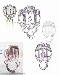 sketches and processes anya almira jewellery