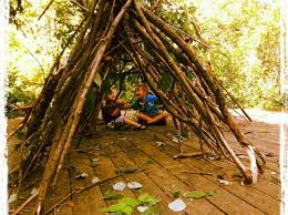 Backyard Forts Kids How To Build A Stick Fort This Would Be Fun Up At The Cabin