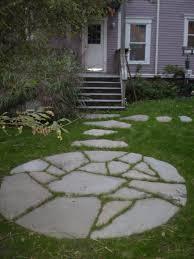 Backyard Stepping Stones by Maine Stonework Masonry Hardscaping Perennial Stone Tea