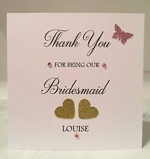 Bridesmaid Card Wording Bridesmaid Thank You Cards Ebay