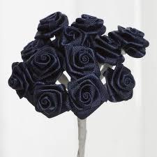 satin roses 144 pcs boutonniere navy blue rosebud flower applique diy brooch