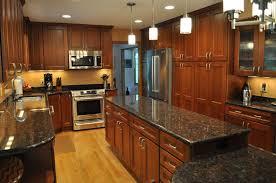 Cherry Kitchen Cabinets Kitchen Cool Cherry Kitchen Cabinets Black Granite Contemporary