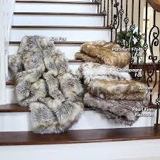 Restoration Hardware Throw Best Home Fashion Amber Fox Faux Fur Full Throw Blanket 58