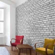 backstein tapete london weiß grau vlies fototapete quadrat