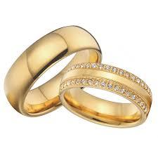 wedding band sets luxury cubic zirconia alliances gold colour titanium steel jewelry