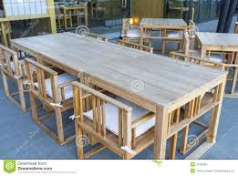 Wooden Table And Chairs Outdoor Bistro Furniture Stock Image Image 33782861