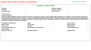 architect employment contract