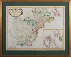Colonial America 1776 Map by Engraved Map Of Canada And Colonial America U201ccarte Generale Du
