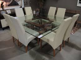 modern square dining table for 8 seams to fit home consignment furniture designer showroom