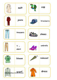 clothes domino worksheet free esl printable worksheets made by