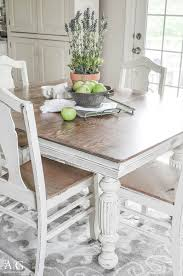 Paint Dining Room Chairs Antique Dining Table Updated With Chalk Paint Grant