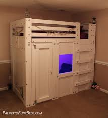 Fort Bunk Bed Cabin Bed Plan Bed Plans Bunk Bed And