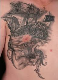 traditional pirate ship octopus tattoo real photo pictures