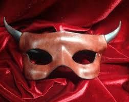 leather mardi gras masks horned leather mask masquerade mask mardi gras mask carnival mask