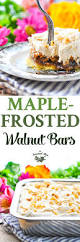 vegan desserts for thanksgiving maple frosted walnut bars recipe maple frosting easy desserts
