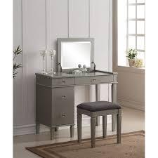 Bedroom Vanity Table Bedroom Vanity Set In Silver 580435sil01u