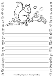 squirrel writing frame