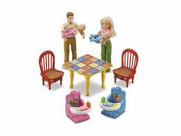 Loving Family Kitchen Furniture Fisher Price Loving Family Grand Dollhouse Amazonca Home Kitchen