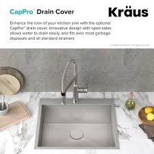 how to open sink drain kraus cappro removable 4 5 grid kitchen sink drain reviews wayfair