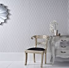 Silver Metallic Wallpaper by Metallic Wallpapers For Rooms That Ooze Glamour
