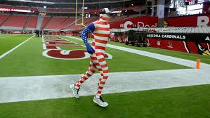 Flag Suit Arizona Cardinals Carson Palmer Warms Up In Flag Suit Si Com