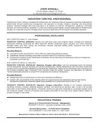 inventory resume samples resume sample inventory control