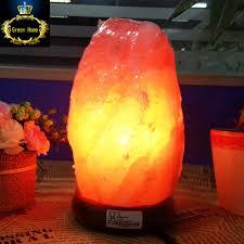 himalayan salt rock light himalayan salt l natural mineral rock light with neem wood base