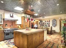 rustic kitchen decorating ideas with furniture and pendant lamps