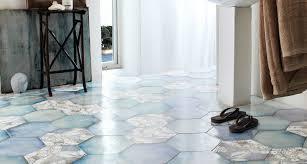 Bathroom Tile Floor Ideas by Install Hexagon Floor Tile