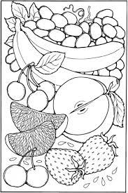 fruit coloring pages sheet free print crafts
