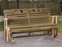 pid31314 amish pine cutout heart glider bench 40 outdoor glider
