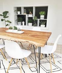 White Wooden Dining Table And Chairs Reno Solid Acacia Wood Dining Table 71 Scandinavian Living