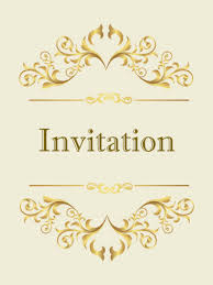 invitation card classic golden invitation card birthday greeting cards by davia
