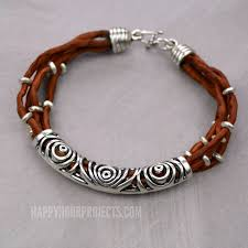 diy silver bracelet images Silk silver easy layered diy bracelet happy hour projects jpg