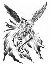 drawn angel male angel pencil and in color drawn angel male angel