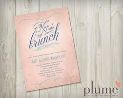 brunch wedding invitation post wedding brunch etsy