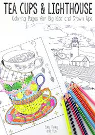 tea cups and lighthouse coloring pages easy peasy and fun