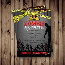 zombie birthday invitations zombie birthday invitations for