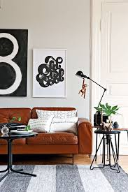 Tan Leather Sofa RoundUp Kassandra DeKoning - Leather sofa interior design