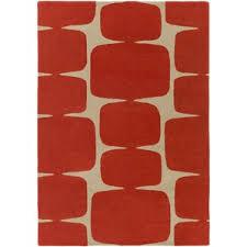 Red And Orange Rug Modern U0026 Contemporary Burnt Orange Rugs Allmodern