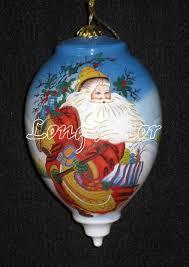 ornaments painted inside handmade glass