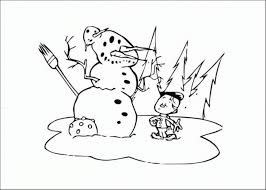 kid make snowman coloring pages winter winter coloring pages of