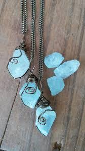 blue crystal stone necklace images Aquamarine necklace raw aquamarine necklace aquamarine crystal jpg