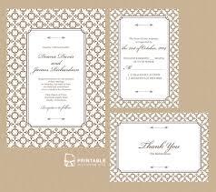 stately frame invitation set wedding invitation templates
