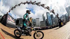 freestyle motocross bikes high flying fmx tricks in hong kong red bull x fighters jam 2015