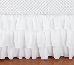 Crib Bed Skirt Measurements Ruffle Crib Skirt Pottery Barn